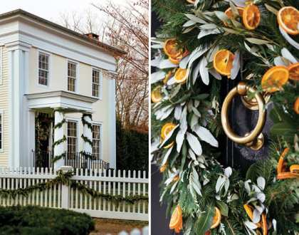 The Halls are Decked in this Nineteenth-Century Connecticut Country House