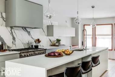 historic south end townhouse kitchen