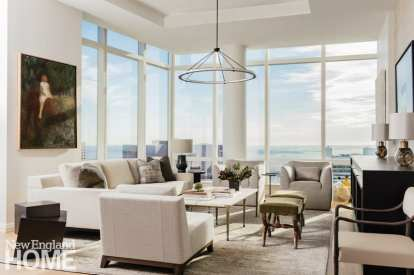 boston high-rise living room