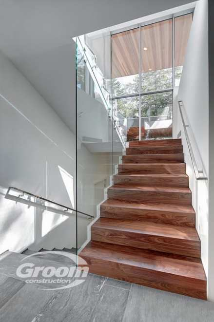 cost to build a contemporary home staircase