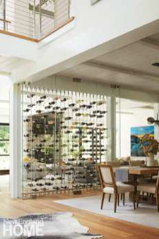 entertaining at home redding wine wall