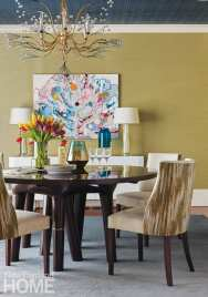 bright and bold dining room
