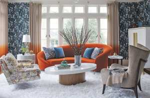 bright and bold living room