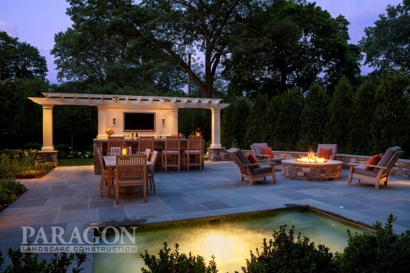 year-round backyard entertaining outdoor kitchen