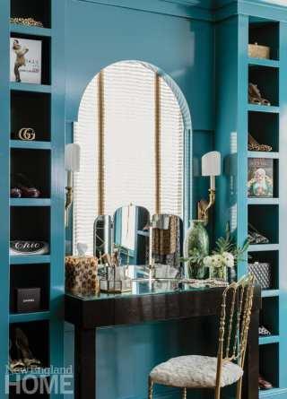 Andover condo dressing room vanity