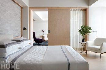 south end condo master bedroom