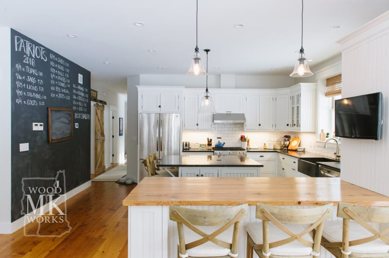ways to modernize custom cabinets