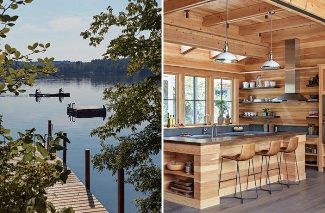 sophisticated berkshires cabin