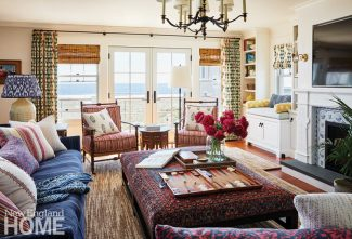 bright maine summer home living room