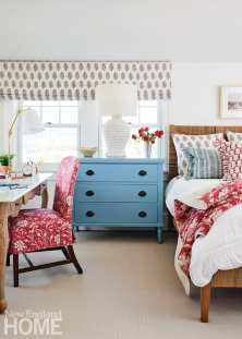 bright maine summer home bedroom