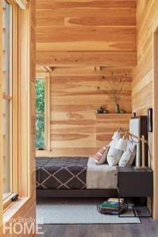 sophisticated berkshires cabin bedroom