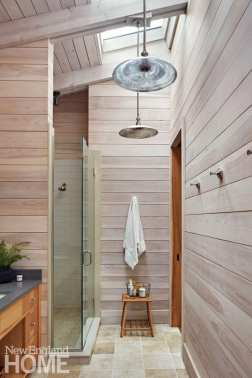 sophisticated berkshires cabin bathroom