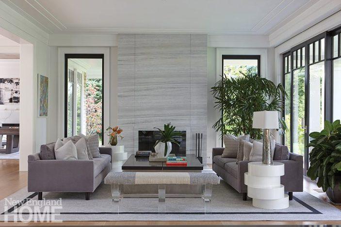 modern riverside home living room