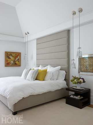 modern riverside home master bedroom