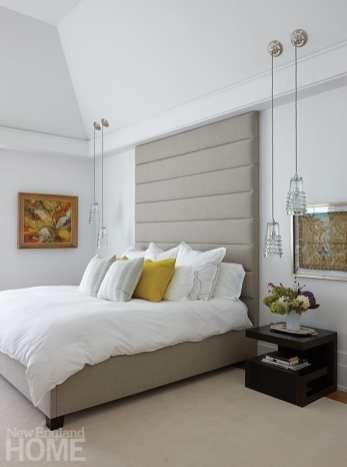 modern riverside home master bedroom