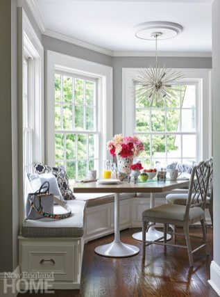 Andrea Sinkin Greenwich home breakfast nook