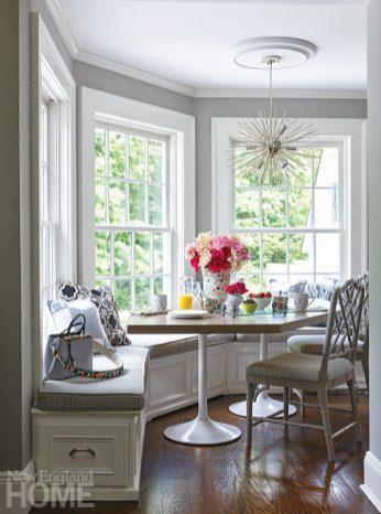 Andrea Sinkin Greenwich home breakfast nook