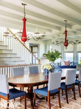 Traditional coastal dining room