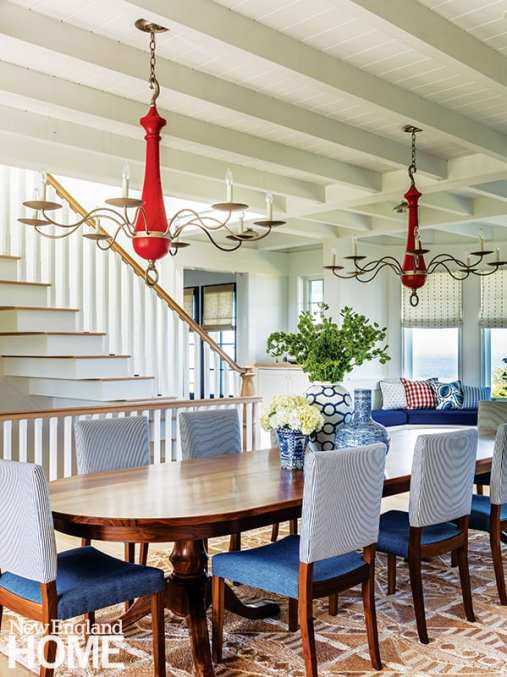 Traditional coastal dining room