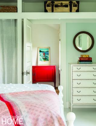 Guest bedroom with vintage furniture