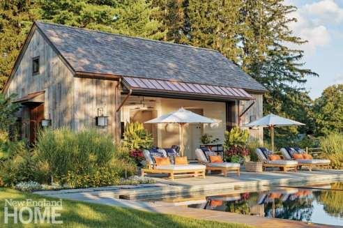 Pool house designed by Haver & Skolnick