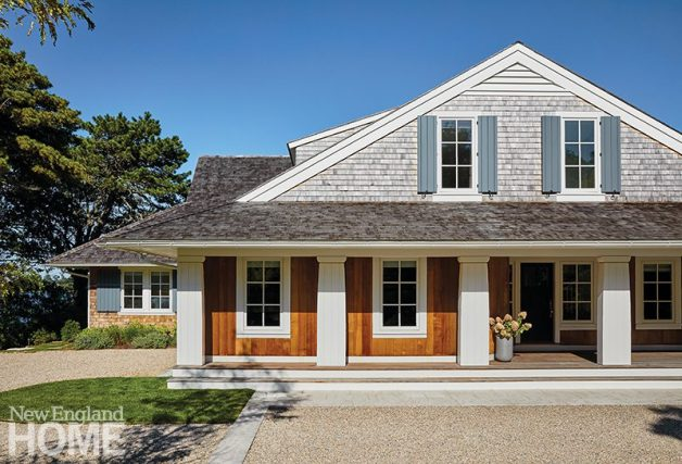 Exterior cape cod shingle style house
