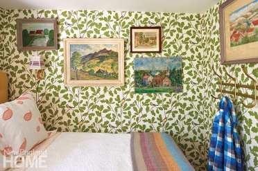 Bedroom featuring Sanberg wallpaper