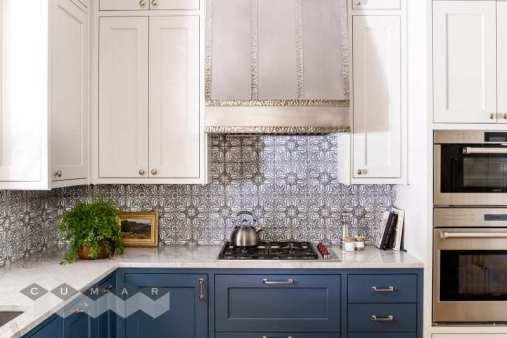 Countertop: Super White Fantasy marble. Designer: Melinda Gulietta of Bespoke of Winchester. Photography: Jessica Delaney Photography