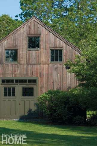 The bedroom wing's exterior sports a barn door that looks authentic but doesn't actually open.