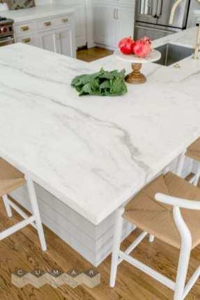 Countertop: Bianco Laser Marble honed. Designer: Melinda Gulietta of Bespoke of Winchester. Photography: Jessica Delaney Photography.