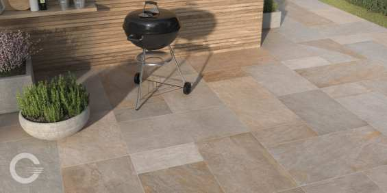 Bluestone finishes are ideal for New England homes, shown Full Color.