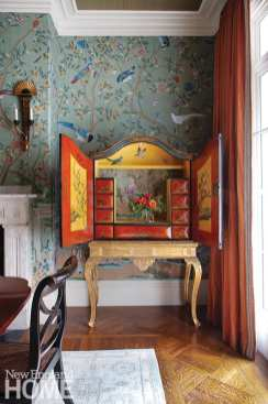 Homeowners Nancy and James Schibanoff found the chest on stand at the W.A. Smith auction house in New Hampshire.