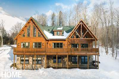 exterior vermont log home