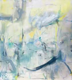 "Apollo's Answer, 66""H x 60""W, oil on canvas;"