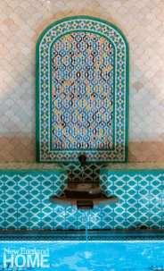 Mosaic and fountain in a Hammam