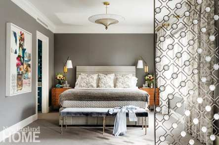 Main bedroom in neutral colors