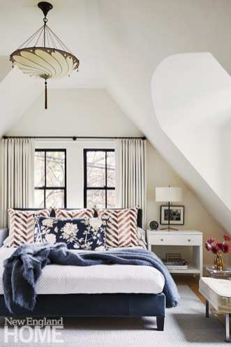 Neutral bedroom with Fortuny pillows.