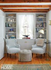 Reading nook with two small chairs