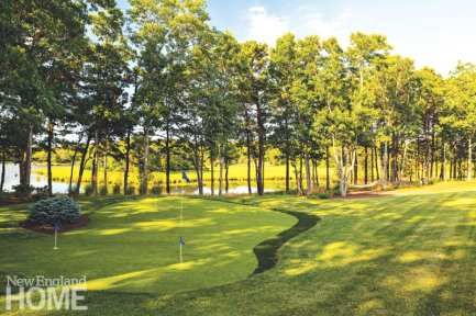 Sudbury Design Group created a putting green, replete with water views.