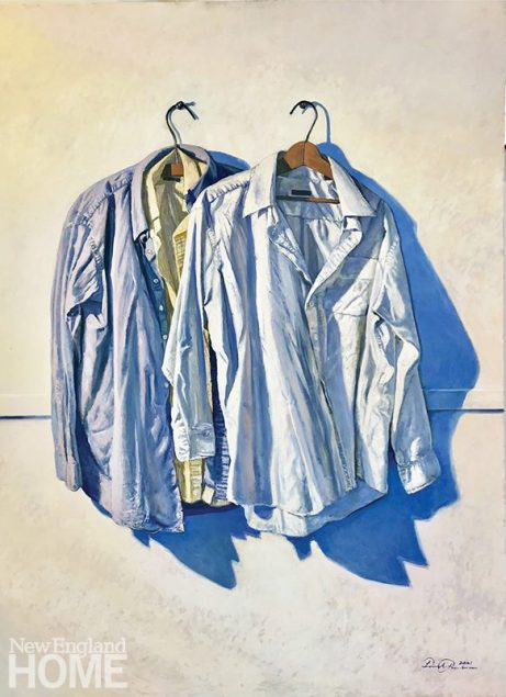 """Two One, 48""""H x 36""""W, oil on panel, 2021"""