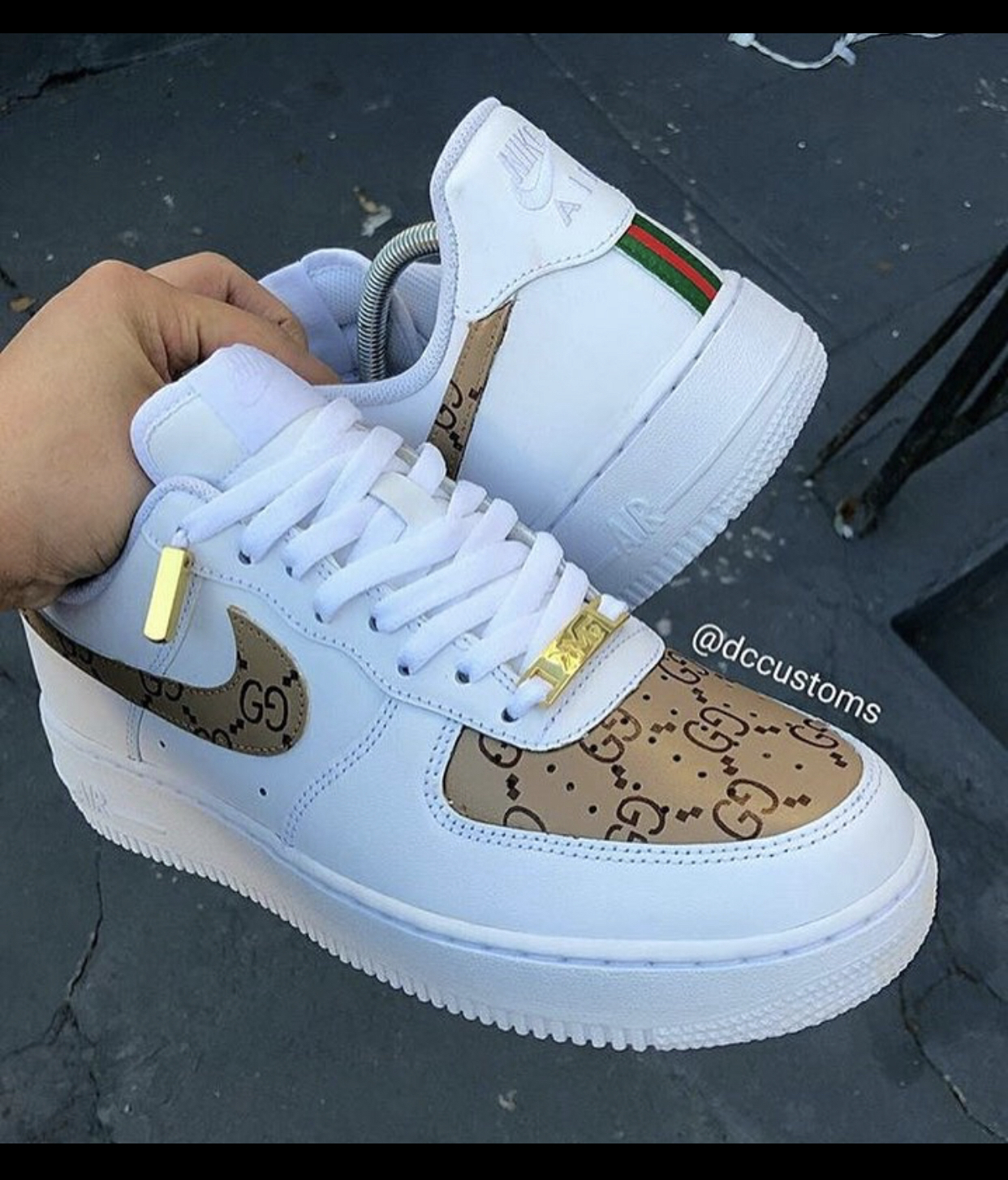 authorized site really comfortable cheapest Tan Gucci Forces – Neighborhood Nike