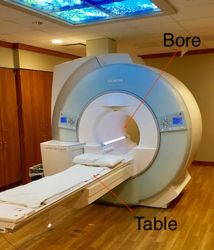 photograph of MRI scanner