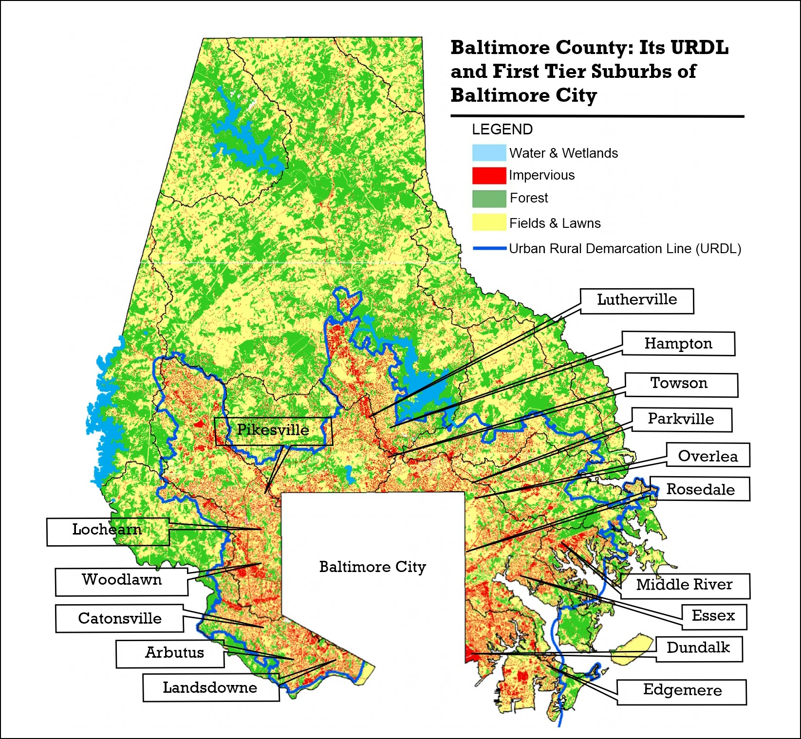Baltimore County Map Baltimore County: At a Crossroads  AGAIN!   NeighborSpace of
