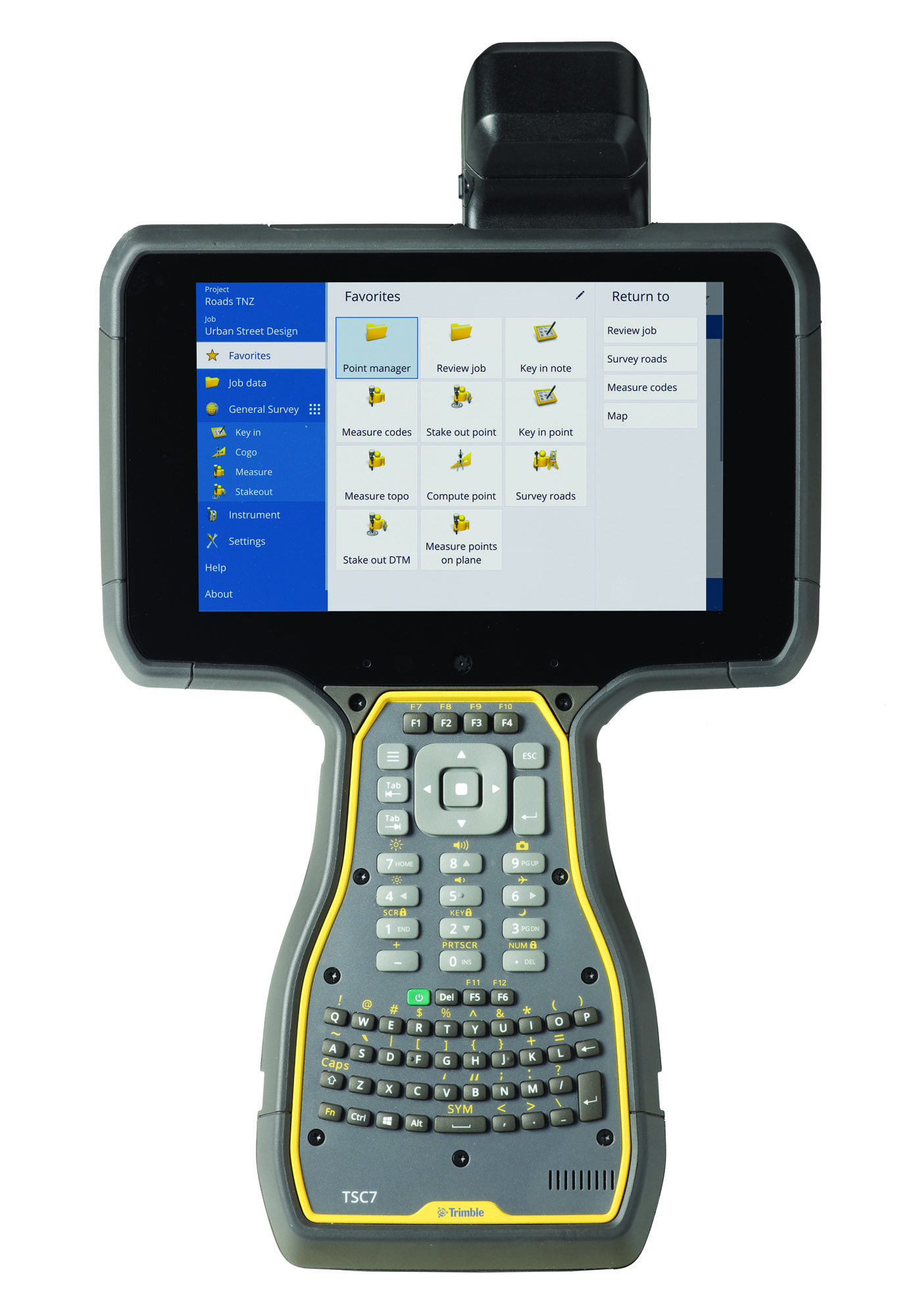 Trimble TSC7 Controller QWERTY Keypad USBSerial Boot Worldwide Region Trimble Access NEI