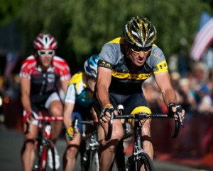 Armstrong racing at the Nevada City Classic