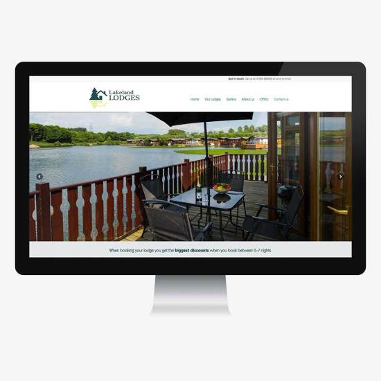 Website design for Lakeland Lodges