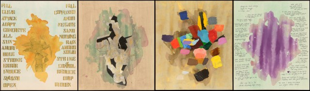 Listed Objects, 50x200 cm approx. Acrylic/Paper