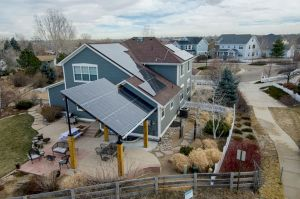 solar array and solar shade structure