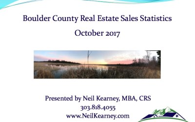 Boulder County Real Estate Statistics October 2017