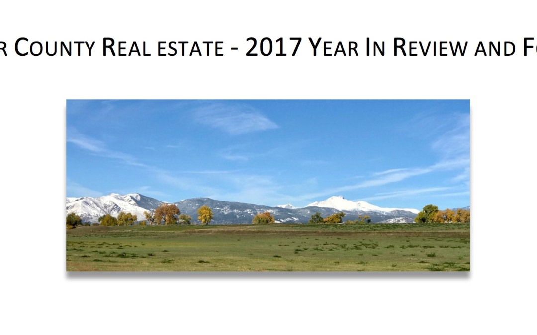 Boulder Real Estate Market – 2017 Year In Review